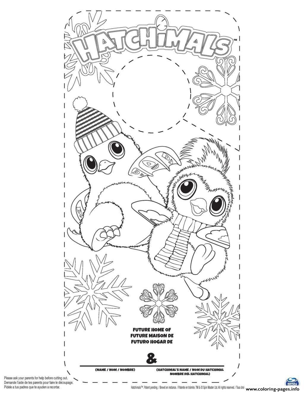 Print Hatchy Hatchimals Color Coloring Pages Coloring Pages Valentine Coloring Pages Penguin Coloring Pages