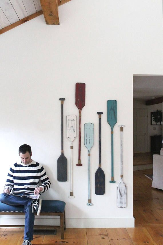 Oars wall decor set of or decorative painted also rh pinterest