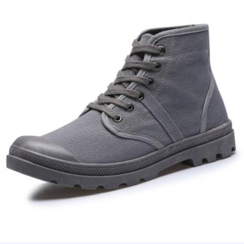 Boots for Men, Booties On Sale, Grey, Canvas, 2017, 6.5 7 8 9 Palladium