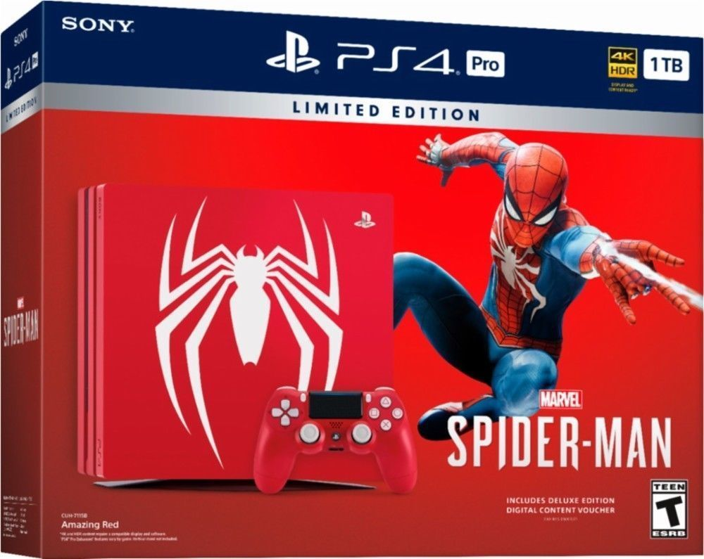 Details About Sony Playstation Ps4 Pro 1tb Limited Edition Spider Nba 2k19 20th Anniversary Region 3 English Man Console Bundle New