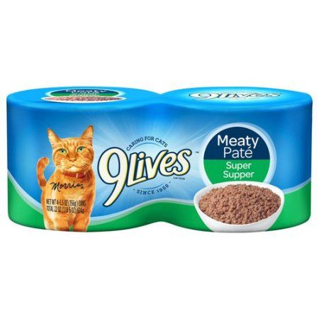 9lives Meaty Pat Super Supper Wet Cat Food 4 5 5 Ounce Cans Canned Cat Food Dog Food Recipes Cat Food Bowl