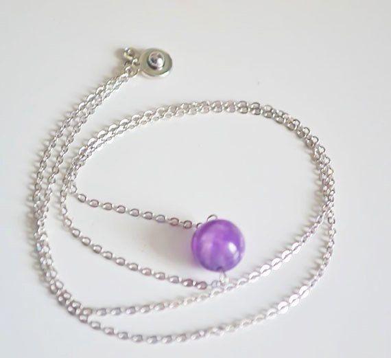 Purple amethyst bracelet necklace earrings Jewelry by JewelryZlata