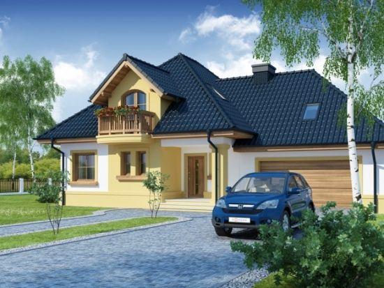 O casa de vis cu 4 dormitoare mansarda si garaj proiect for Proiecte case cu garaj si mansarda