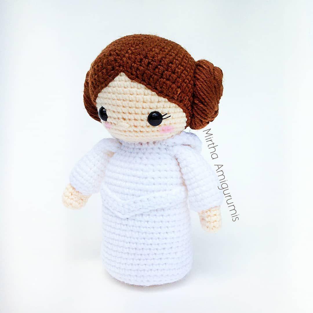 Amigurumi Doll Princess Leia Crochet Pattern Toy Spielzeug | 1080x1080