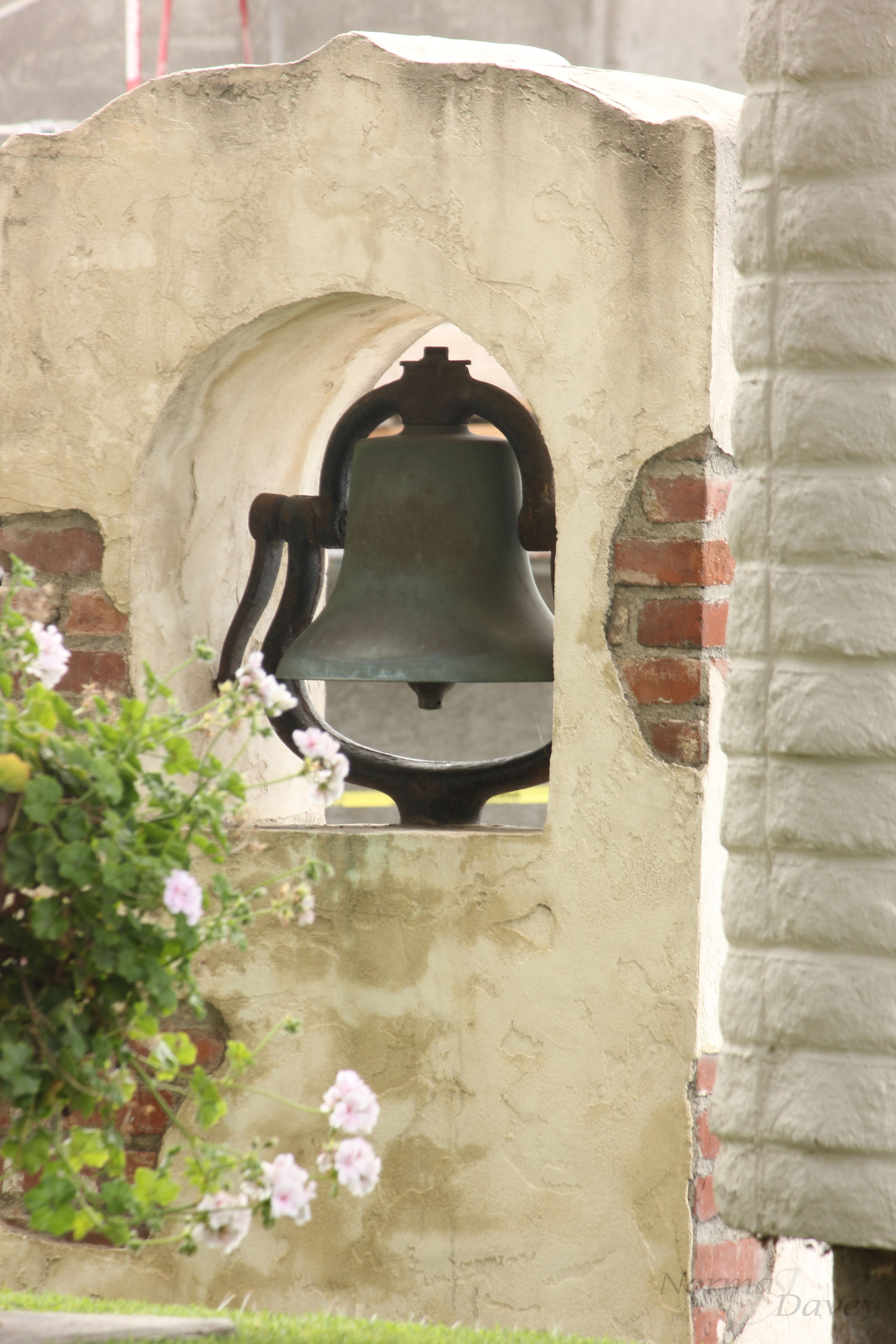 Mission Bell Sits In The Center Of La Habra California