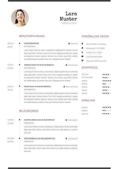 Lebenslauf Vorlage 5 | Bewerbung/Jobs | Pinterest | Lebenslauf ...