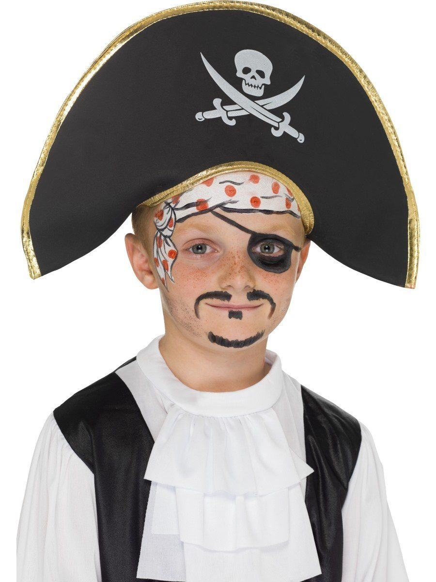 Fever Pirate Hat Buccaneer Adult Womens Smiffys Fancy Dress Costume Accessory