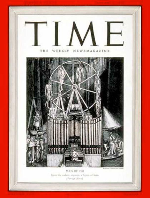 Adolf Hitler Man Of The Year 1938 Time Magazine Cover This