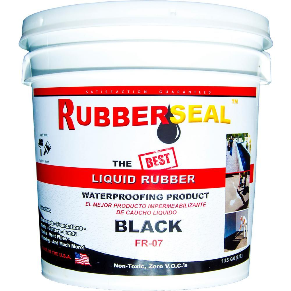 Rubberseal 1 Gal Black Liquid Rubber 10005005 The Home Depot Liquid Rubber Liquid Waterproofing Black Liquid