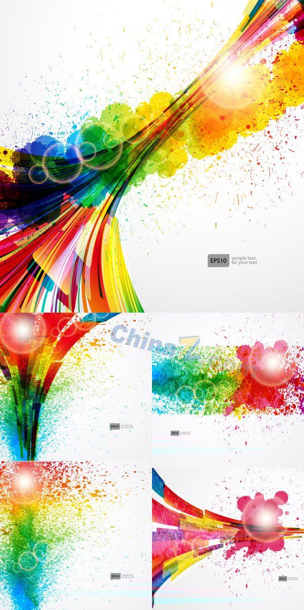 inkjet color vector background illustration for Free