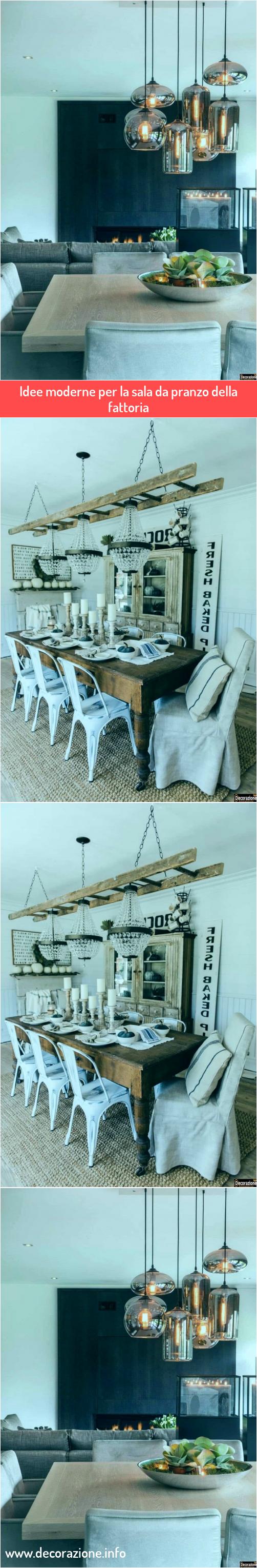 Idee moderne per la sala da pranzo della fattoria nel 2020 ...