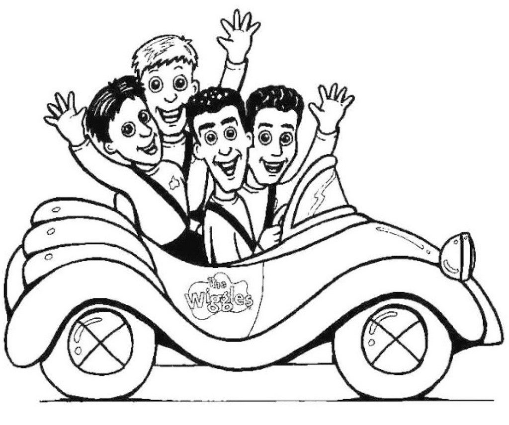 epic wiggles in the car coloring page | wiggles coloring page ...