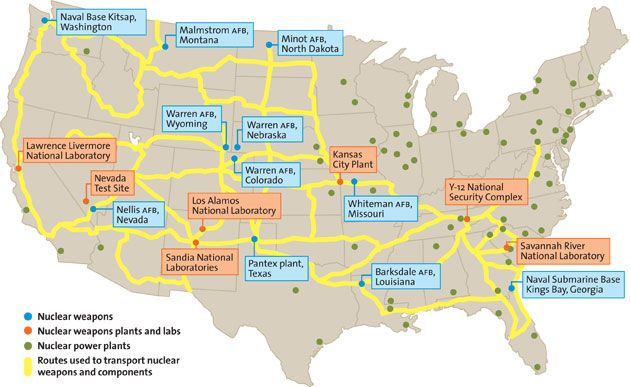 nuclear trucking routes in the us jeff berlin i got passed by one of these in nebraska going 70mph on a two lane