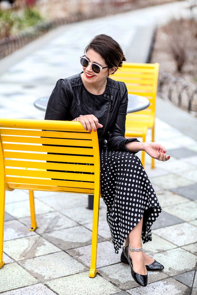 I Spy DIY: MY OUTFIT   Polka Dots & Leather