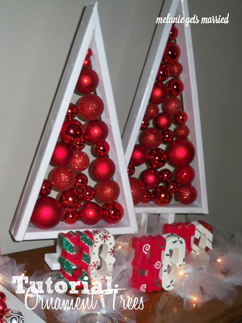 Melanie Gets Married: Floating Ornament Christmas Trees: Tutorial