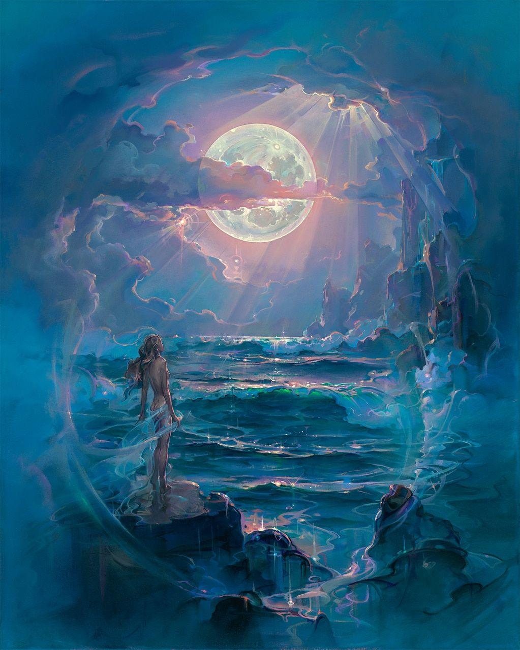 Moonlit Dream  #PitreFineArts #JohnPitreArt #PitreEyeCandyArt #JohnPitre #EyeCandyArt