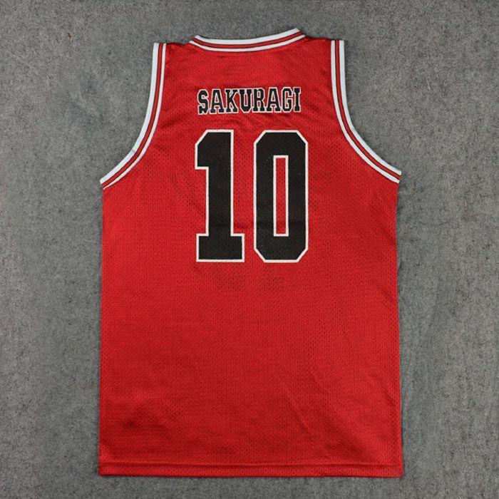 d3f86e21e Slam Dunk Sakuragi Hanamichi NO.10 Basketball Jersey (Back)