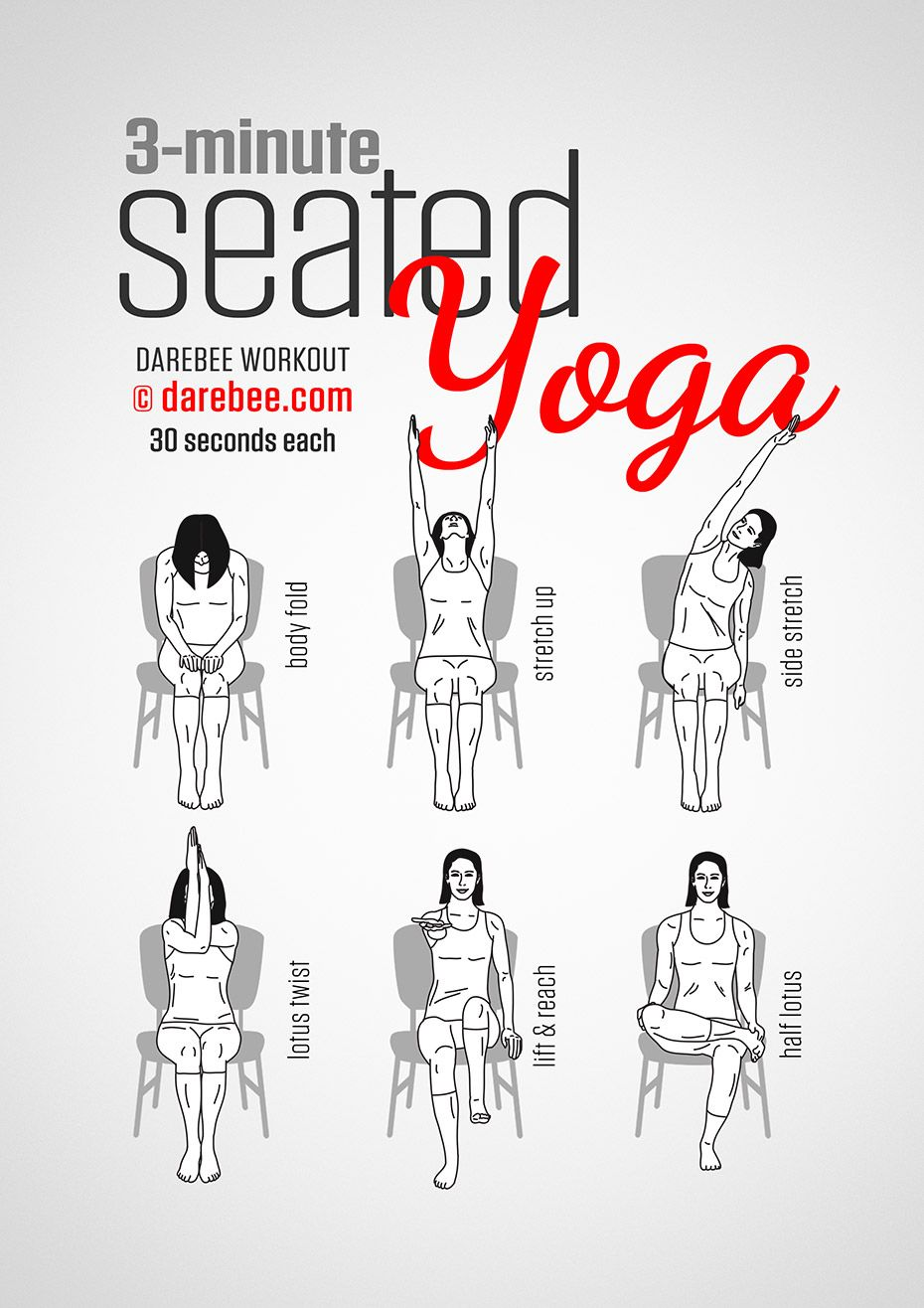 Seated Yoga Workout Full Body Difficulty 1/5 Office