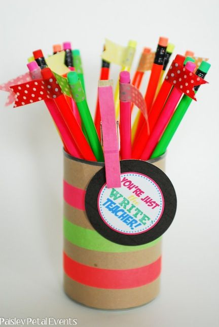 "Teacher's gift - ""You're just the ""write"" teacher. Cute play on words."