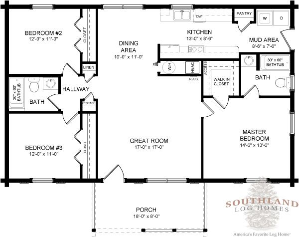 Four Seasons Log Cabin Floor Plan Southland Log Homes remove
