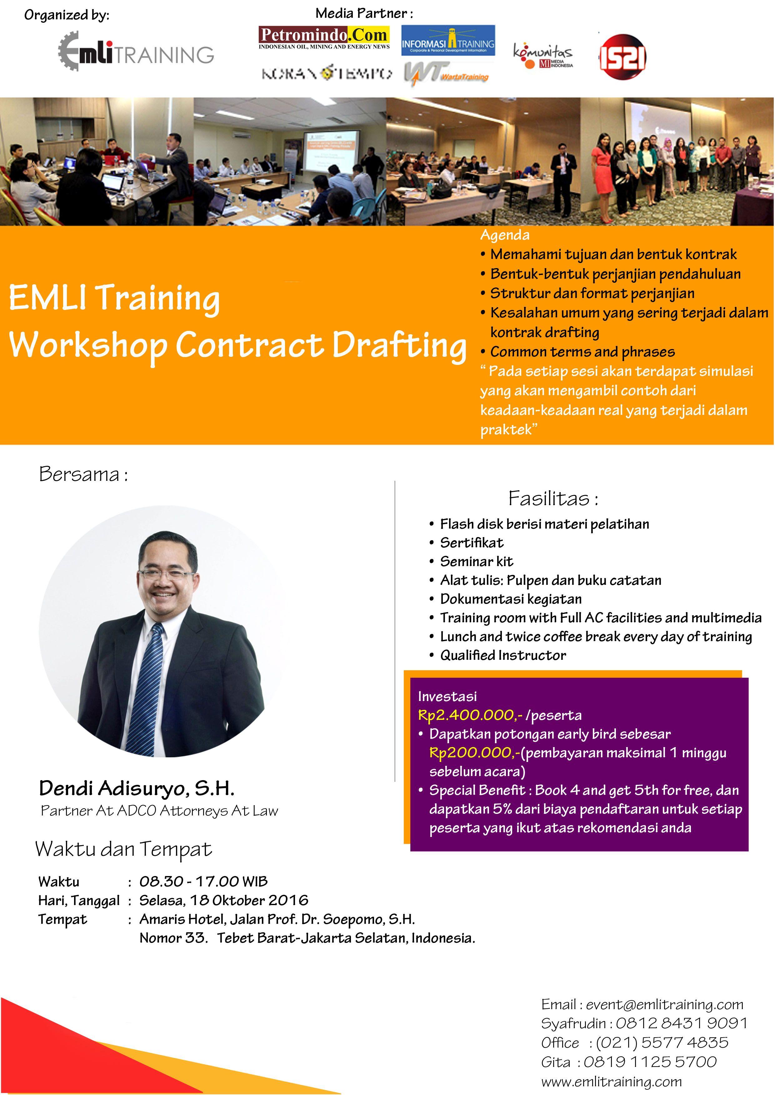 Workshop Contract Drafting Pelatihan Ini Di Desain Sedemikian Rupa