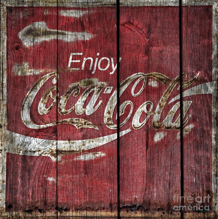 Coca Cola Sign Barn Wood Photograph by John Stephens - Coca Cola Sign Barn Wood Fine Art Prints and Posters for Sale