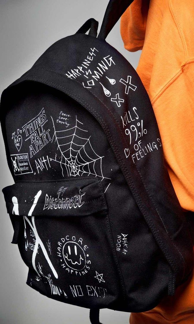 Photo of Men's New #grungegoth Disconnect Backpack #disturbiaclothing…