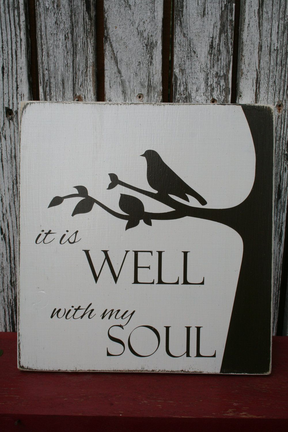 It is Well with my Soul Sign, via Etsy.