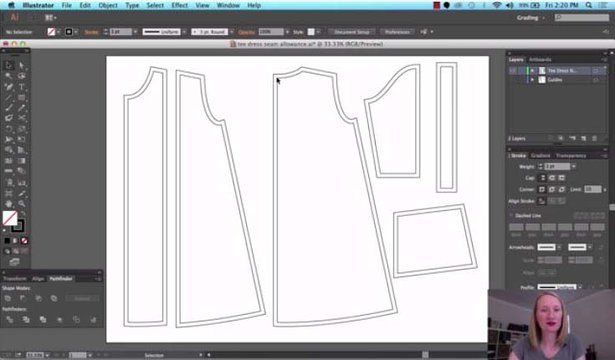 Digital Pattern Drafting With Adobe Illustrator Software Design