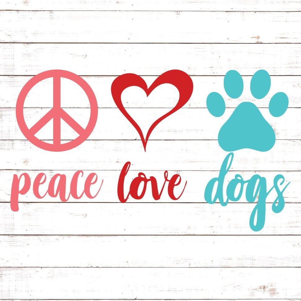 Download Peace Love Dog #1 in 2020 | Peace love dogs, Free svg, Svg ...