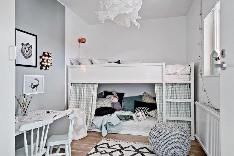 11 ideas para personalizar la cama litera kura de ikea - Ikea mantas para camas ...