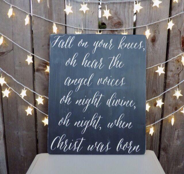 LOVE! Favorite Christmas song + lyric.   Fall on your knees, Christmas signs, Favorite christmas ...