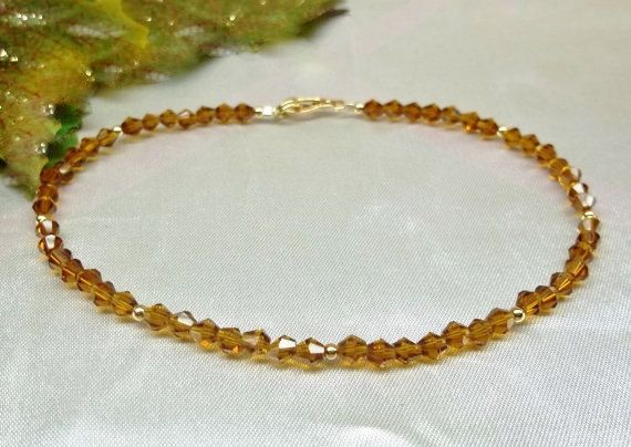 etsy chain layered gold market bracelet ankle solid il anklet