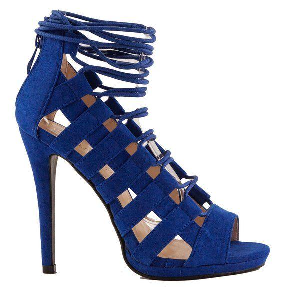 Toocool - Scarpe donna sandali stringati tacchi alti schiava gladiatore  nuove IL868-20 [37