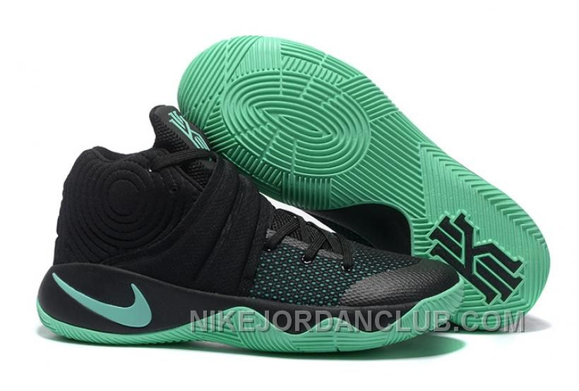 big sale 72750 92301 Boys And Girls Cheap Nike Kyrie 2 Black Green Glow 819583 007 Basketball  Shoes Buy