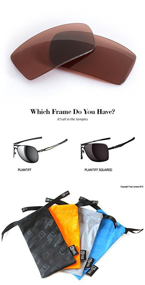 000c1ce1bf2 FUSE Amber   Rose F30 Tint Lenses for Oakley Plaintiff Squared ...