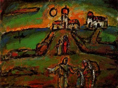 Nocturno de otoño - 1937 - 1939. 79,4 x 59,7 cm. The Solomon R. Guggenheim Museum. Nueva York. EEUU.