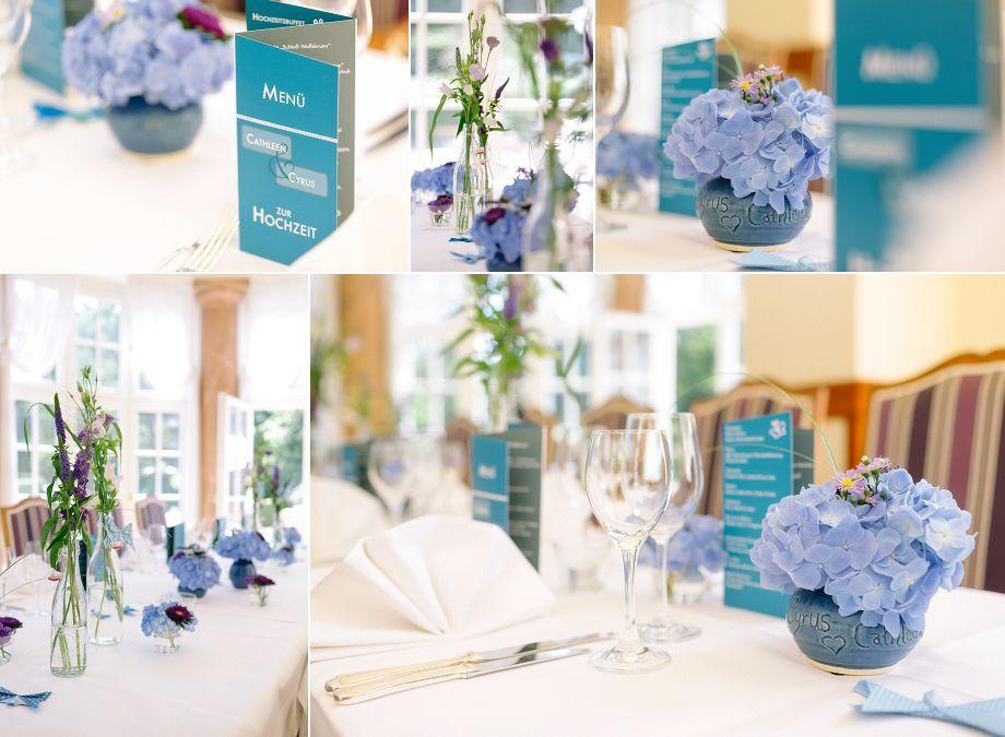 0098 hochzeit schloss wolfsbrunn deko hochzeitsdeko blau brautstrau hortensie hydrangea. Black Bedroom Furniture Sets. Home Design Ideas