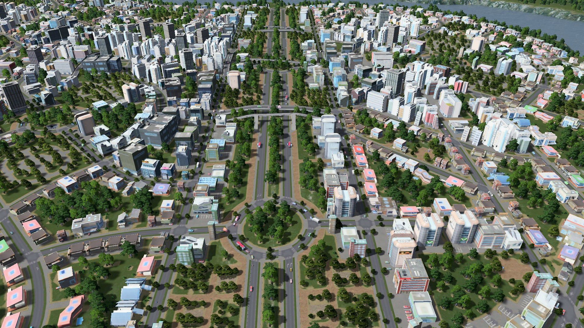 Use Gravel Pathways Alongside Streeets For A Neat Look City Skyline City Skylines Game City