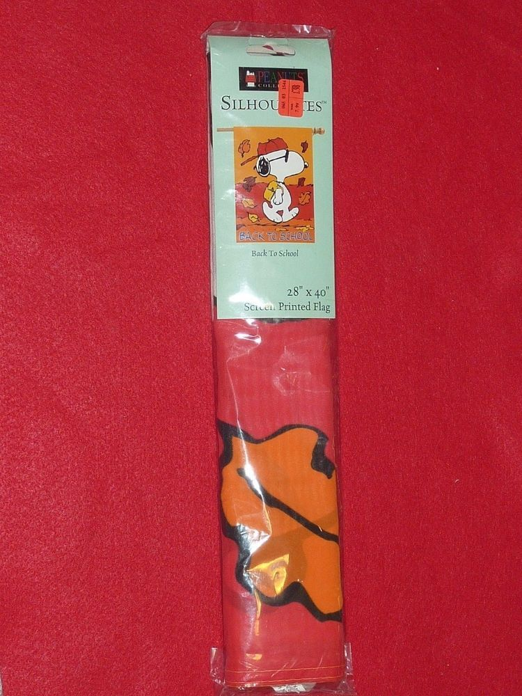 Peanuts Snoopy Back to School Flag NEW IN ORIGINAL PACKING #NCE