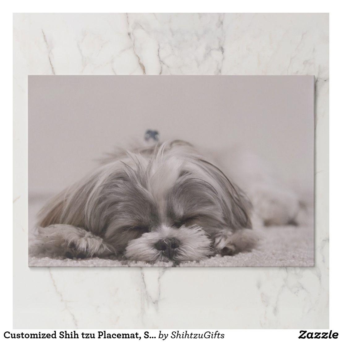 Customized Shih Tzu Placemat Sleeping Dog Paper Placemat Zazzle