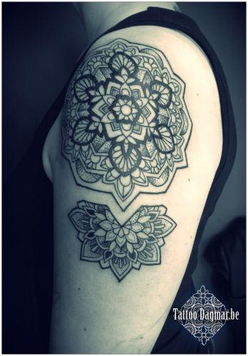 Mandala, dotwork, Tattoo Dagmar
