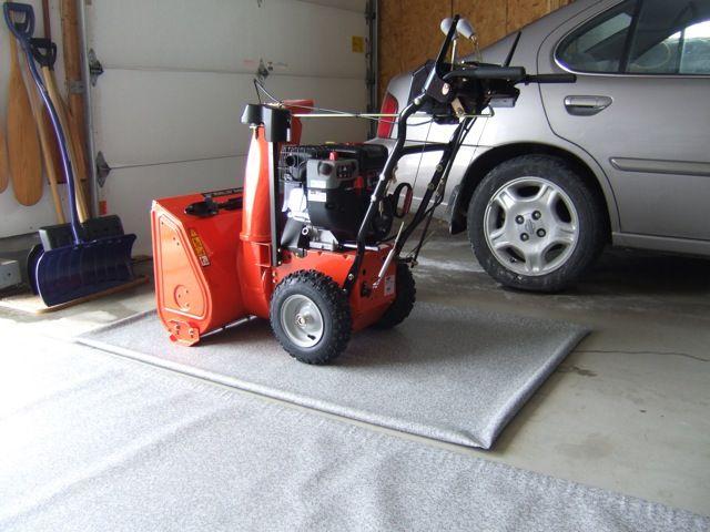 Garage Floor Mat For Snowblower Garage Floor Mats Snow Blower Outdoor Power Equipment