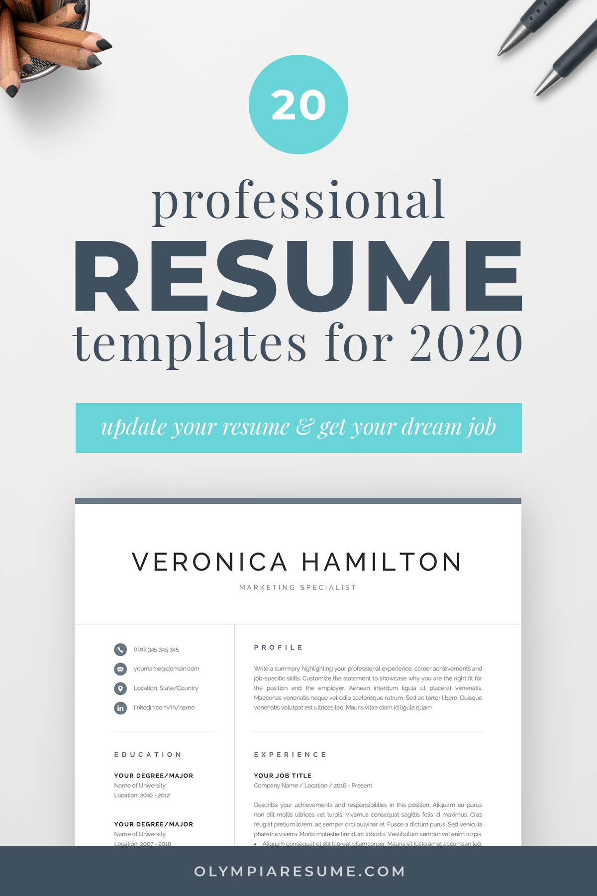 Update Your Resume And Land Your Dream Job In 2020 Choose From A