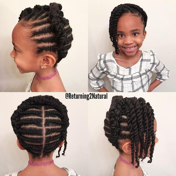 12 Easy Winter Protective Natural Hairstyles For Kids #girlhairstyles