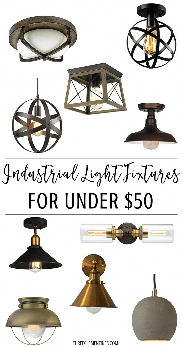 Industrial Light Fixtures For Under 50, Farmhouse style