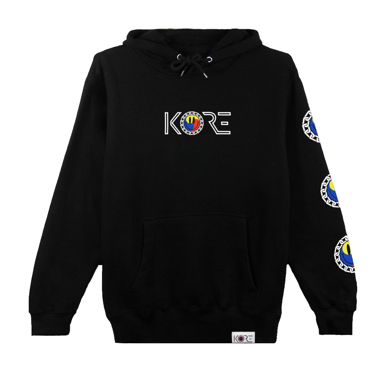 SMILEY PULLOVER HOODIE (BLACK) in 2020 Black hoodie
