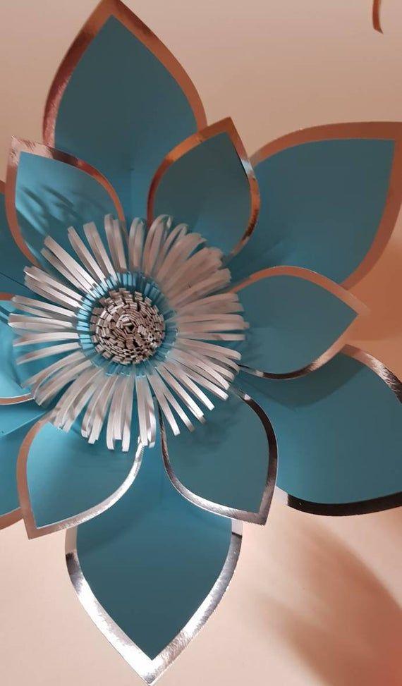 Paper flower template SVG digital file and svg centre #105 #largepaperflowers