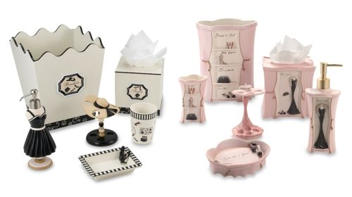 Paris Themed Bathroom Set Accessories With A Matching Featuring Oh Fancy Hat