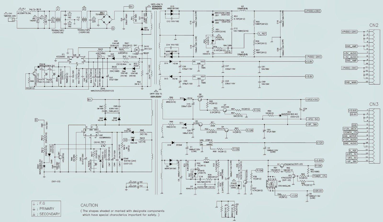 Schematic Diagram For Samsung Mx C730 Mx C630 Power Amp 1 Power Amp Samsung Power